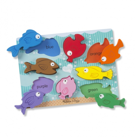 Melissa & Doug Chunky Colourful Fish puzzel 8 delig