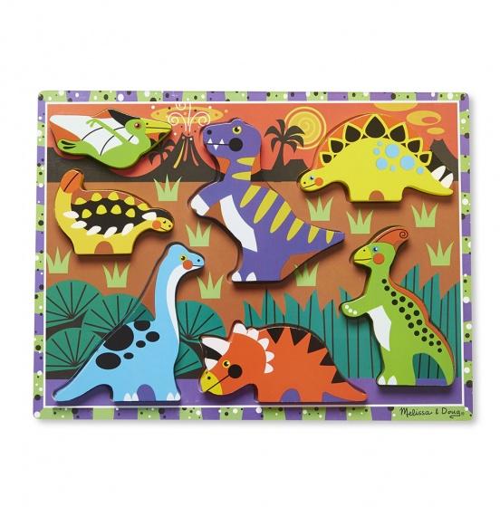 Melissa & Doug Dinosaurs Chunky puzzel 7 delig