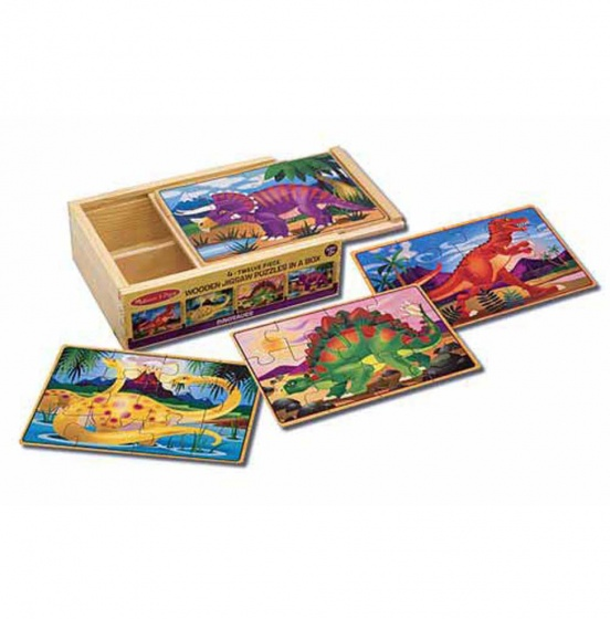 Melissa & Doug Dinosaurus puzzel set