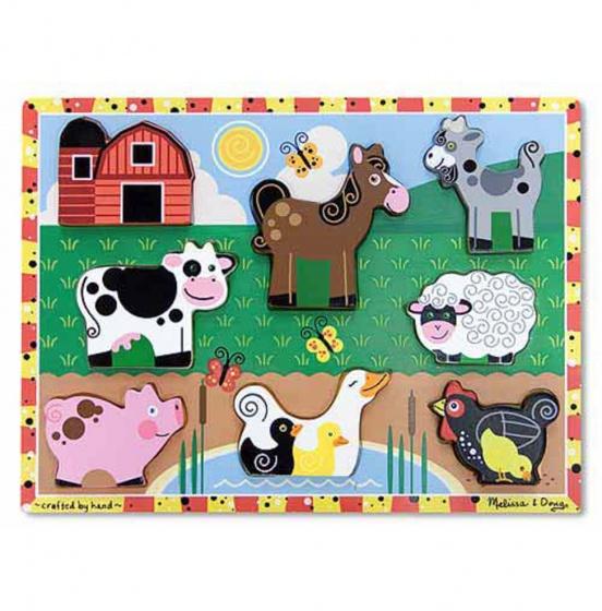 Melissa & Doug Farm Chunky puzzel 8 delig
