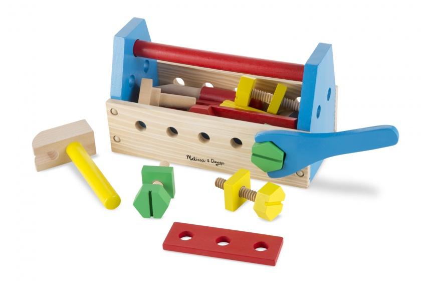 Houten speelset gereedschapskist