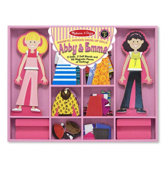 Abby & Emma Magnetic Wooden Dress Up Dolls