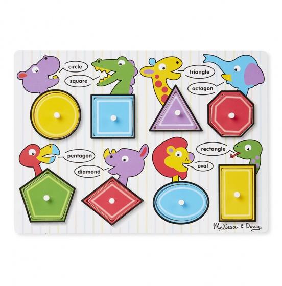Melissa & Doug Geometrische puzzel Engels 8 delig