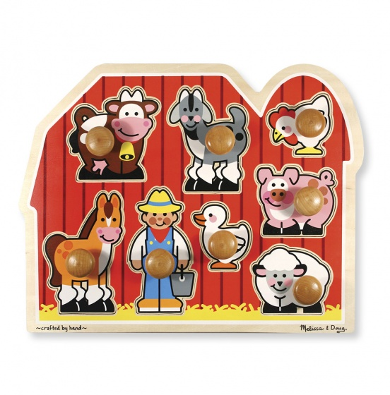 Melissa & Doug Houten puzzel boerderij 8 delig