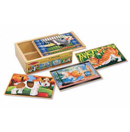 Melissa & Doug Huisdieren puzzel set
