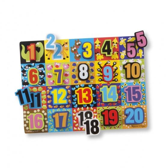 Melissa & Doug Jumbo Numbers Chunky puzzel 20 delig