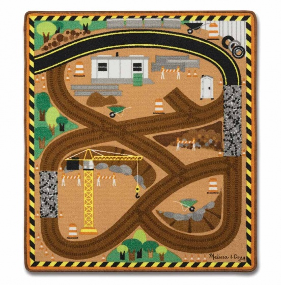 Melissa & Doug Verkeerskleed Round the construction 100 cm
