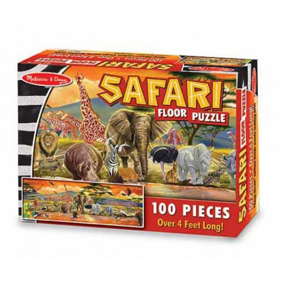 Melissa & Doug Safari vloerpuzzel 100 stukjes kopen