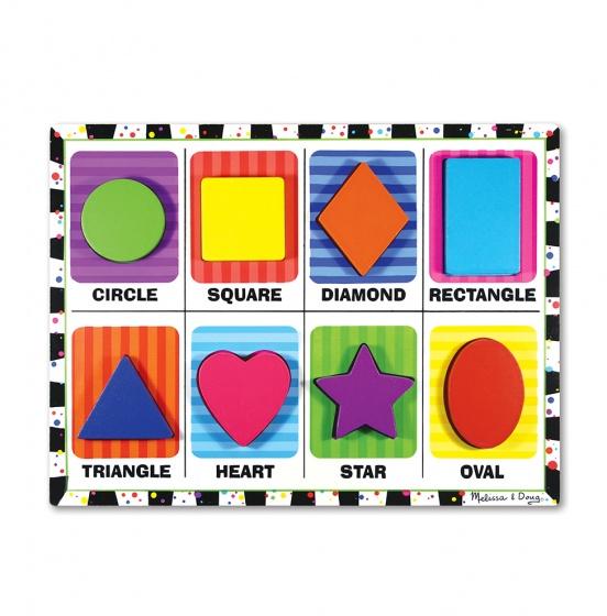 Melissa & Doug Shapes Chunky puzzel 8 delig