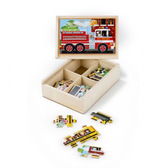 Melissa & Doug Vehicles puzzel set