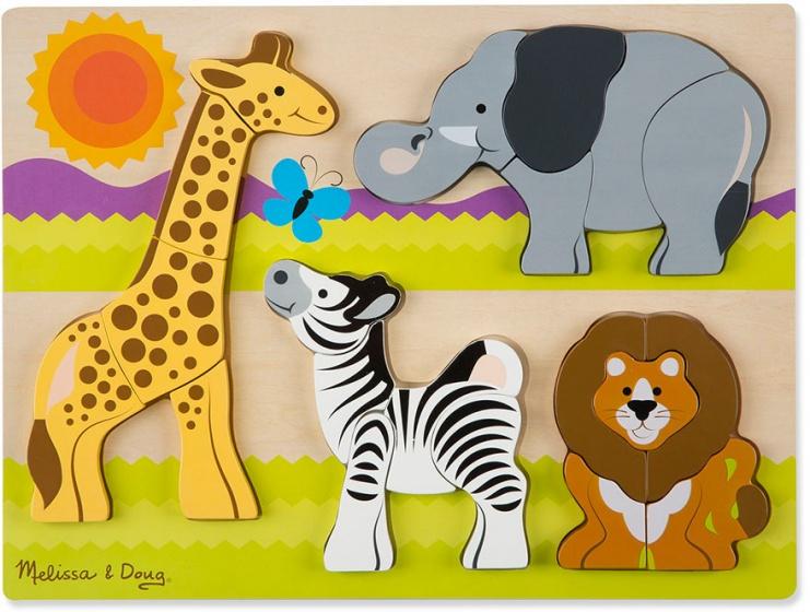 Melissa & Doug vormenpuzzel safari 20 stukjes