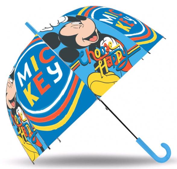 Disney paraplu Mickey Mouse junior 45 cm polyester blauw