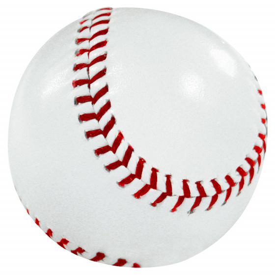 Midwest rounders bal 19,5 cm leer wit/rood