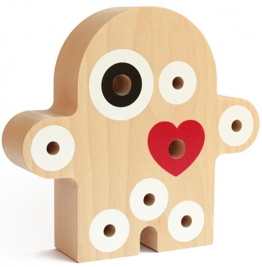 Milani wood Wood oo pennenhouder hout