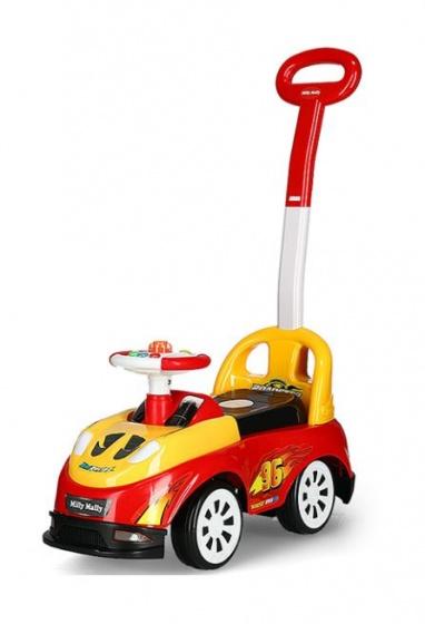 Milly Mally Ride On Bravo loopwagen Racing junior rood/geel