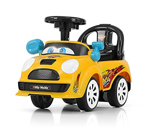Milly Mally Ride On Joy loopwagen junior geel/zwart