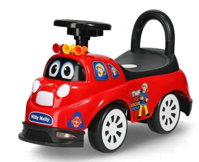 Milly Mally Ride On Tipi loopwagen Fireman junior rood/zwart