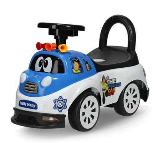 Milly Mally Ride On Tipi loopwagen Police junior blauw/wit