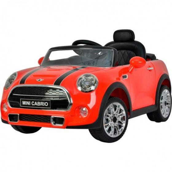 Mini Cooper accuvoertuig Cabrio 12V rood