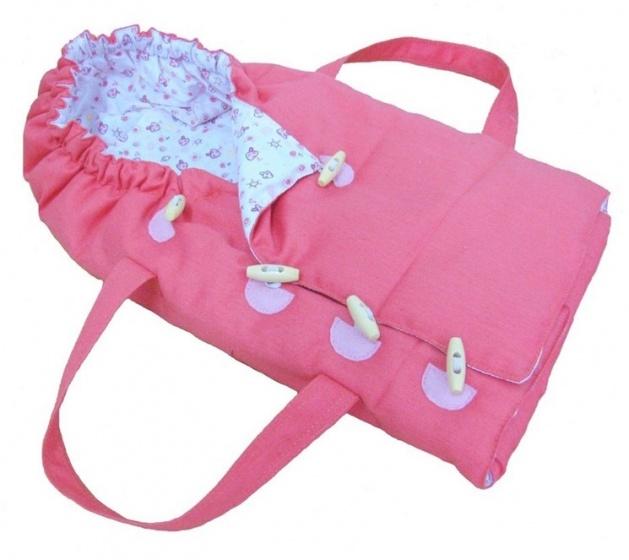 Mini Mommy wandelwagen tas voor poppen 40 50 cm roze