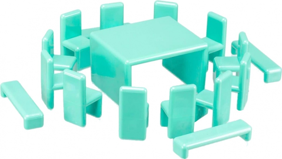 Mini Home poppenhuisinrichting by Eero Aarnio 22 delig turquoise
