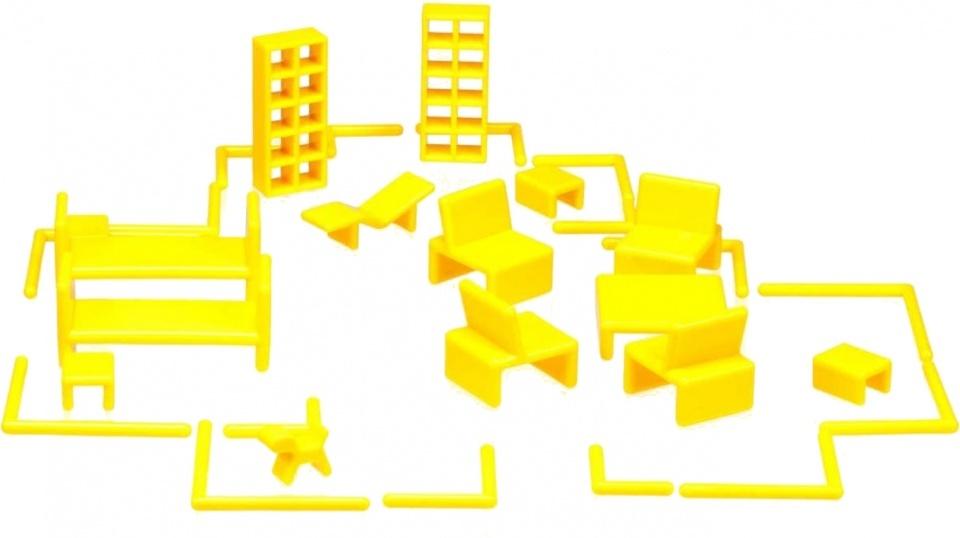 Mini Home poppenhuisinrichting by Eero Aarnio 32 delig geel