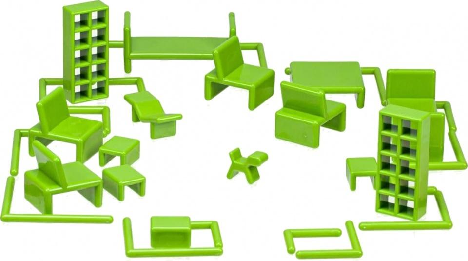 Mini Home poppenhuisinrichting by Eero Aarnio 32 delig groen