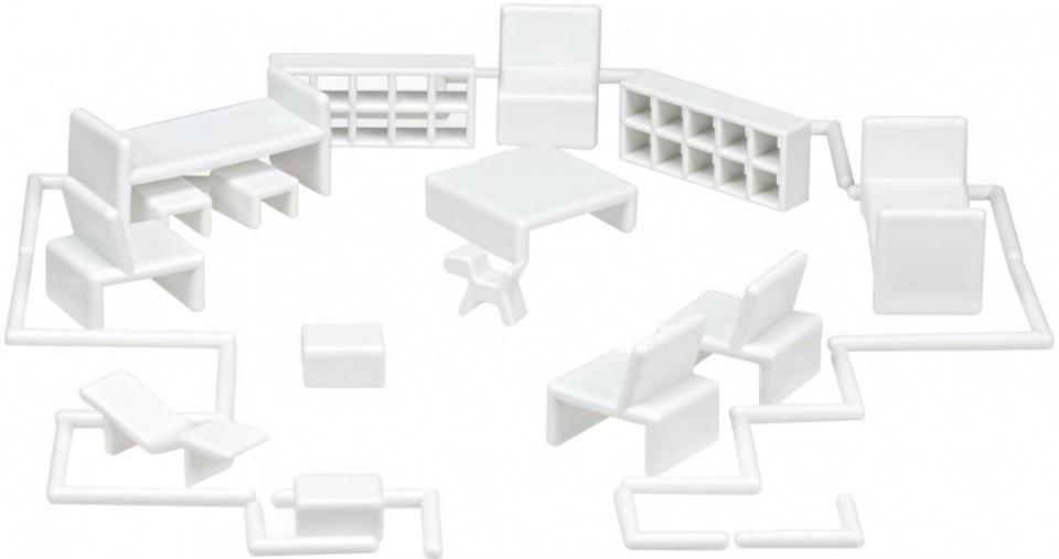 Mini Home poppenhuisinrichting by Eero Aarnio 32 delig wit