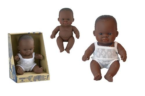 Miniland Babypop Afrikaans Meisje 21 cm
