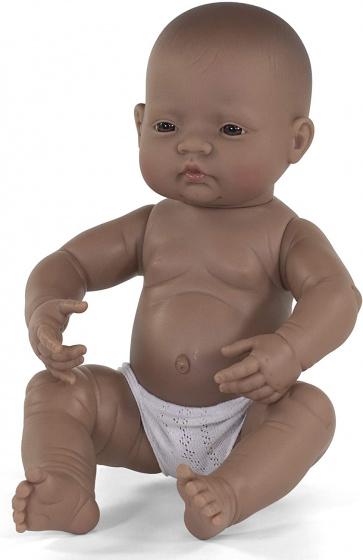Miniland babypop jongetje met vanillegeur 40 cm bruin