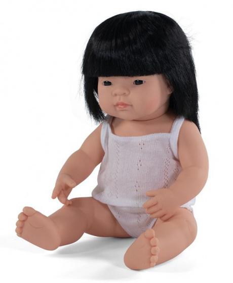 Miniland babypop meisje met vanillegeur 38 cm lang haar