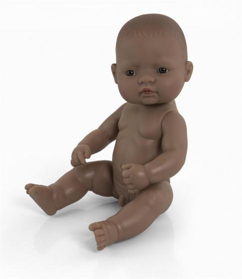 Miniland babypop zonder kleding Zuid Amerikaans jongen 32 cm bruin