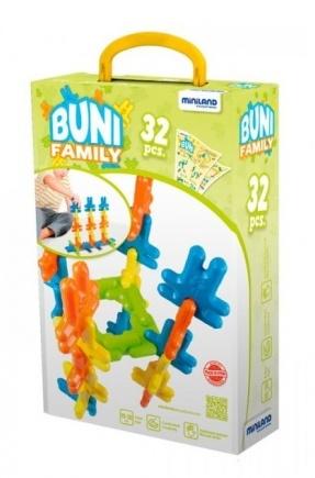 Miniland Buni constructieblokken 8 cm 32 delig