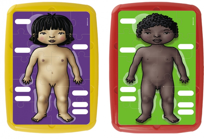 Miniland leerpuzzels Primary 20 stukjes junior 2 stuks