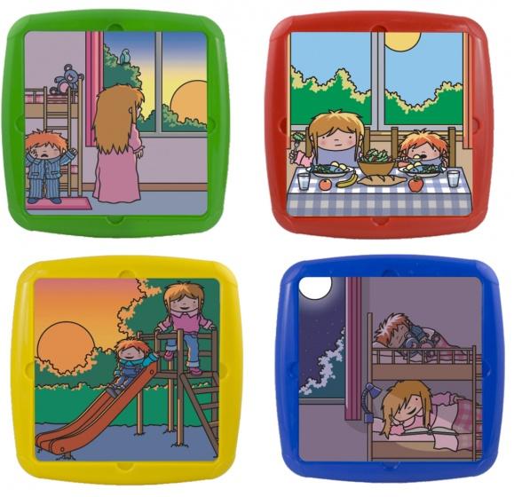 Miniland leerpuzzels Primary junior 6 stukjes 26 cm 4 stuks
