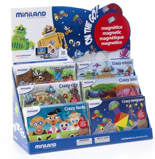 Miniland leerspellen Magnetic On the Go! junior 18 delig