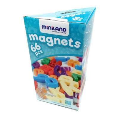 Miniland magneten letters 66 delig
