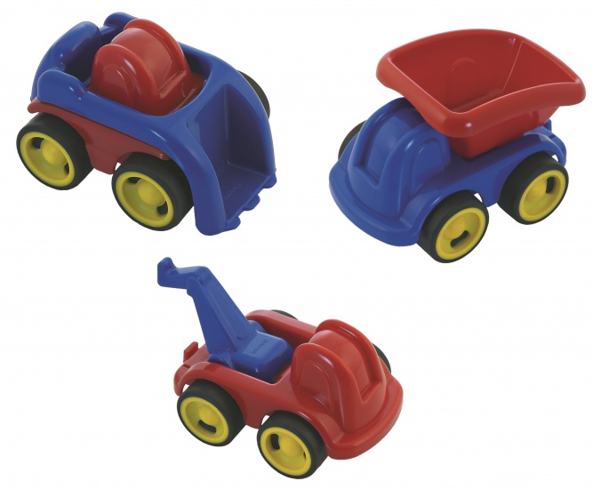 Miniland Minimobil Beroep 12CM: 3 Voertuigen