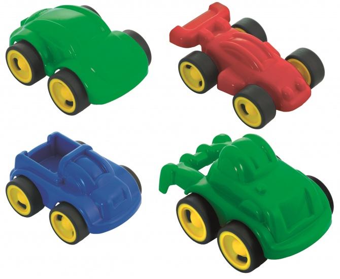 Miniland Minimobil Go 12CM: 4 Voertuigen