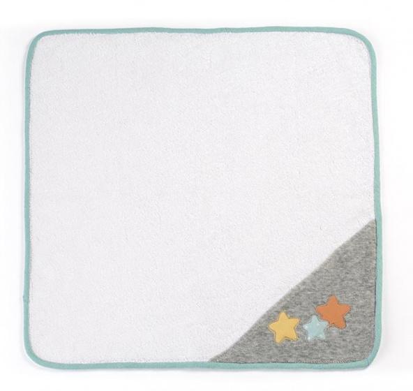 Miniland poppen omslagdoek wit-grijs-mintgroen