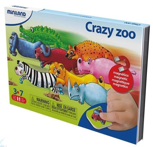 Miniland Taal: On The Go Magnetisch Spel Crazy ZOO