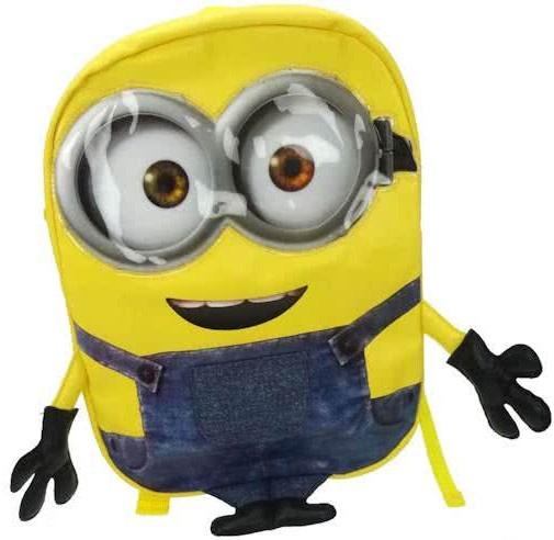 Minions 3D rugzak met armen junior geel 10 liter