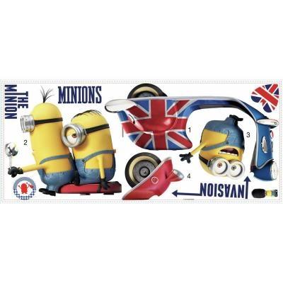 Minions Muursticker Roommates 10 stickers