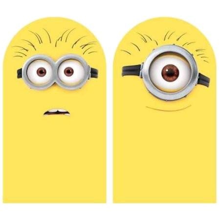 Minions Muursticker Roommates 2 stickers