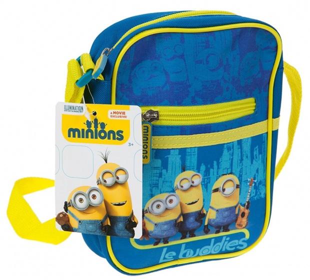 Minions schoudertas Le Buddies3 liter blauw/geel