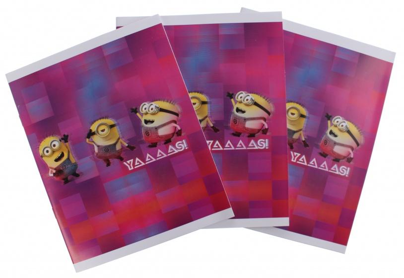 Minions schriften A5 gelijnd roze 3 stuks kopen