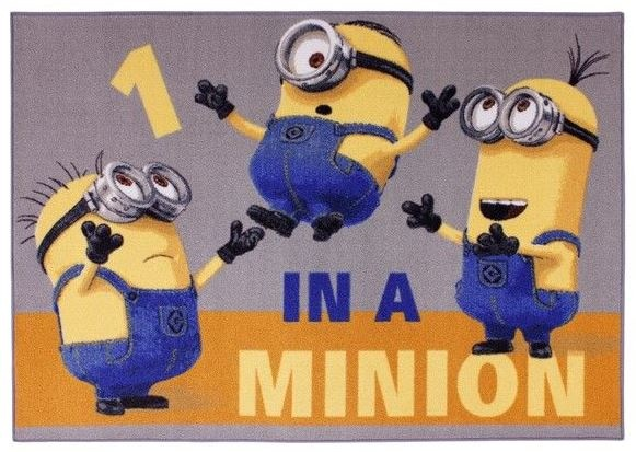 Minions Speelkleed 95 x 133 cm Kevin/ Bob/ Dave geel/blauw
