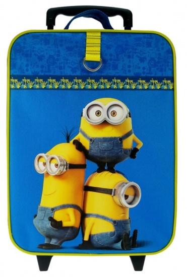Minions Trolley koffer Superbad blauw/geel 40 x 30 x 14 cm
