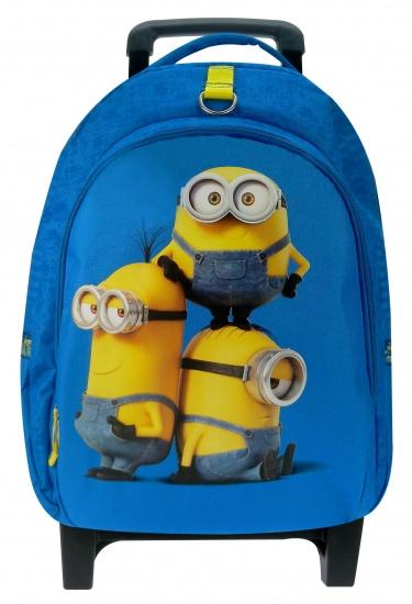Minions Trolley rugzak Superbad blauw/geel 45 x 31 x 17 cm