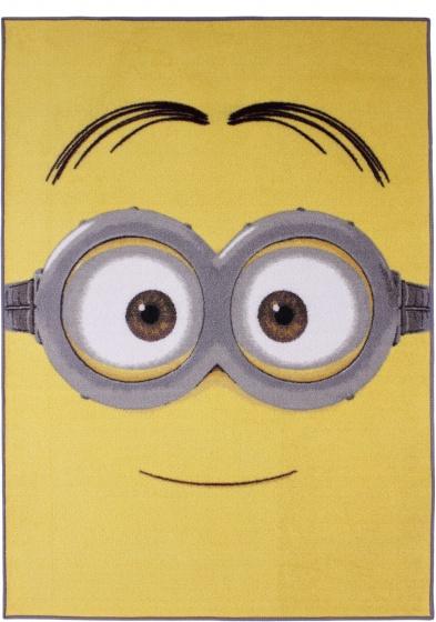 Minions Vloerkleed Bril 95 x 133 cm Geel